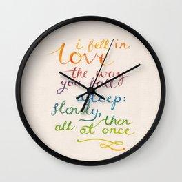 All At Once Wall Clock