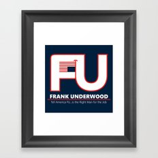 Full FU Logo Framed Art Print