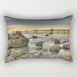 A Rocky Sunset Rectangular Pillow