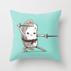 Samurai sushi - Eel Throw Pillow
