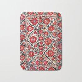Kermina Suzani Uzbekistan Embroidery Print Bath Mat