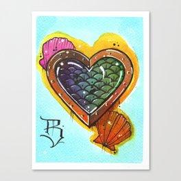 Fish Heart Canvas Print