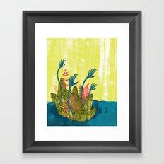 l'isola di calipso Framed Art Print