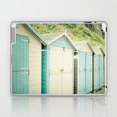 Duck Egg Blue and Cream Beach Huts Laptop & iPad Skin