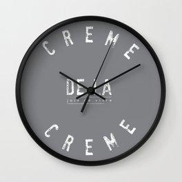Creme de la Creme - joie de vivre Grey Wall Clock