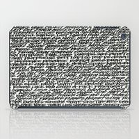 word iPad Cases featuring Word by Abstractink82