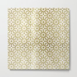 Hara Tiles Gold Metal Print