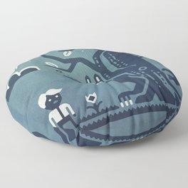 Midnight Menace Floor Pillow
