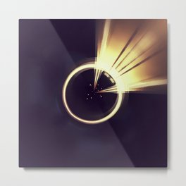 Geometric Art - Shiny Moon Metal Print