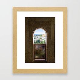 Alhambra palace in Spain, Print (RR 258) Framed Art Print