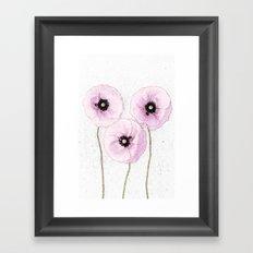 Delicate Poppies Framed Art Print