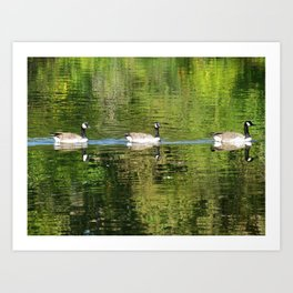 Follow the Leader Art Print