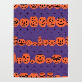 Trick or Treat Smell My Feet- Purple Poster