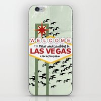 fear and loathing iPhone & iPod Skins featuring Fear and Loathing Movie Poster by Jon Hernandez