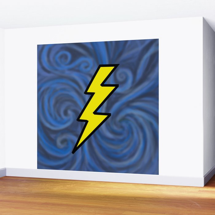 Lightning Swirl Wall Mural