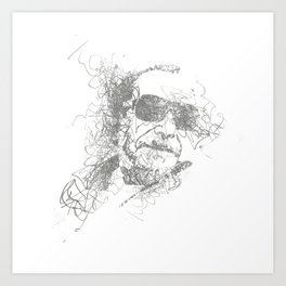Bukowski - Pencil Scribble Art Print