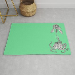 Octopus with an orchid Rug