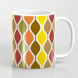 Mid Century Autumn Retro Elongated Rounded Diamond Pattern Coffee Mug