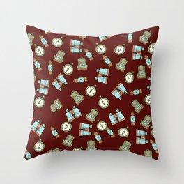 The Cluttered Adventurer  Throw Pillow