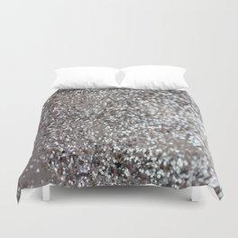 Sparkling SILVER Lady Glitter #1 #decor #art #society6 Duvet Cover