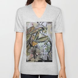 Peace, mantis Unisex V-Neck