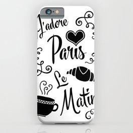 Retro Morning Paris iPhone Case