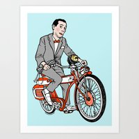 pee wee Art Prints featuring Pee Wee Herman by Michael Scarano
