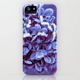 Ultra Violet Ice Crystal Poetry iPhone Case