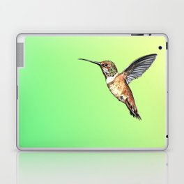 flying hummingbird watercolor sketch Laptop & iPad Skin