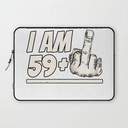 Milestone 60th Birthday - Gag Bday Joke Gift Idea: 59+1 Laptop Sleeve