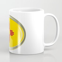 New Mexico State Flag Oval Button Coffee Mug
