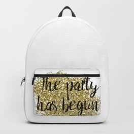 The party has begun - golden jazz Backpack
