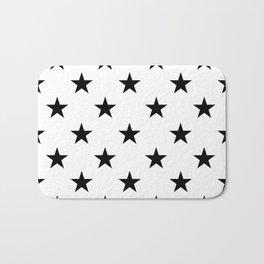 Stars (Black/White) Bath Mat