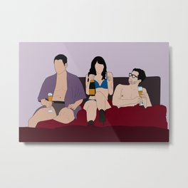 Lito, Daniela and Hernando Metal Print