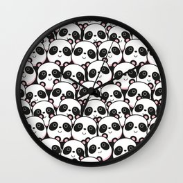 I Love Panda Wall Clock
