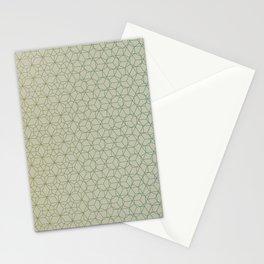 Tessellation - Culture Clash - Polytone Khaki / Sea-green Stationery Cards