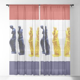 french venus colors Sheer Curtain