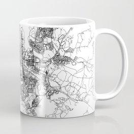 Reykjavik White Map Coffee Mug