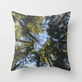 Vancouver Tree Tops Throw Pillow