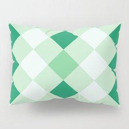Shamrock Green Diagonal Plaid Pattern Pillow Sham
