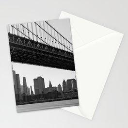 Manhattan Bridge, New York City, Hudson river, New York skyline (2020-6-GNY193) Stationery Cards