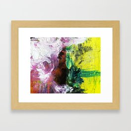 Sweet or Sour // abstract painting Framed Art Print