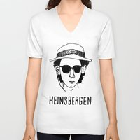 the royal tenenbaums V-neck T-shirts featuring Heinsbergen (Royal Tenenbaums/Breaking Bad) by Tabner's
