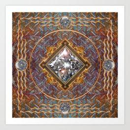 Diamond Cut Steel Art Print