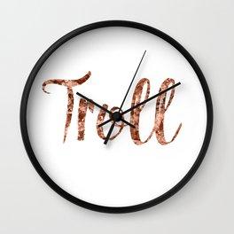 Rose gold troll Wall Clock