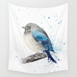 Round and Happy Bird Wall Tapestry