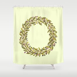 Leafy Letter O Shower Curtain
