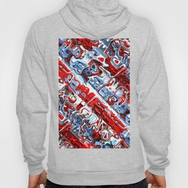 Red White And Blue Abstract Hoody