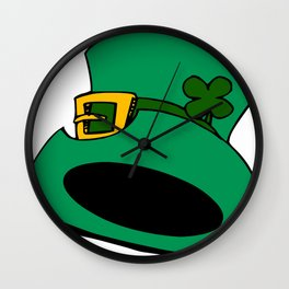 Leprechaun Hat with Shamrock Wall Clock