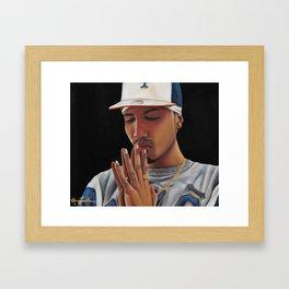 'Oración Sincera'  (Sincere Prayer) Framed Art Print